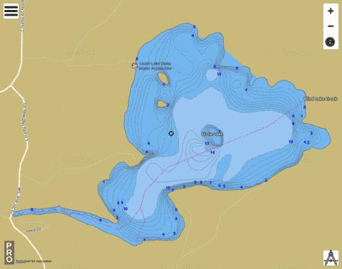 Lizzie Fishing Map - i-Boating App