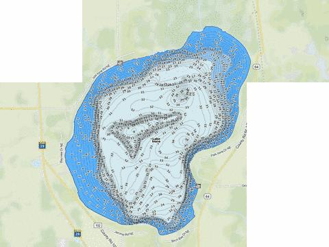 Irene Fishing Map - i-Boating App