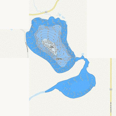 Charley Fishing Map - i-Boating App