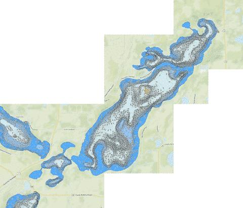 Chippewa Fishing Map - i-Boating App