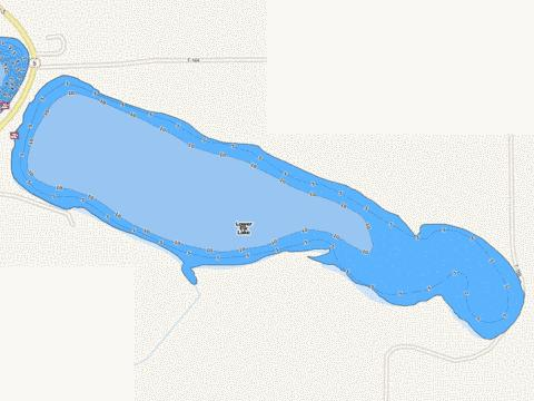 Lower Elk Fishing Map - i-Boating App