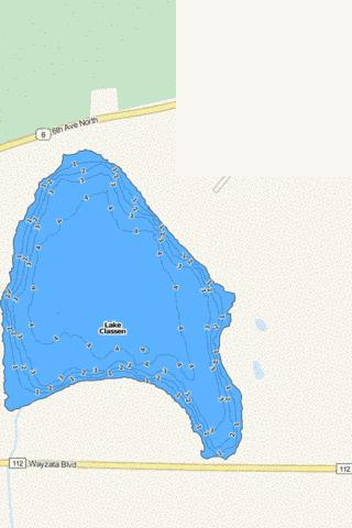 Classen Fishing Map - i-Boating App