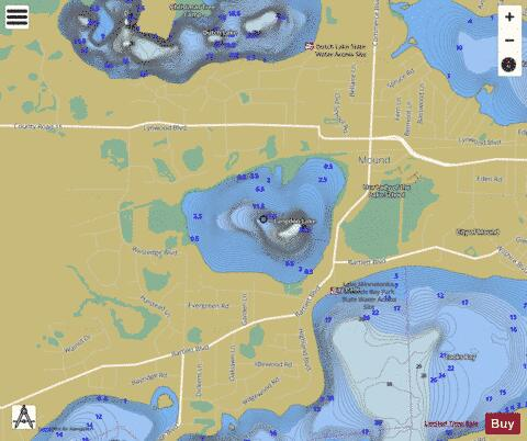 Langdon Fishing Map - i-Boating App