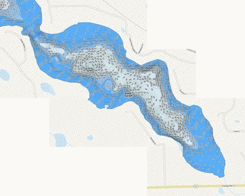 East Sarah Fishing Map - i-Boating App