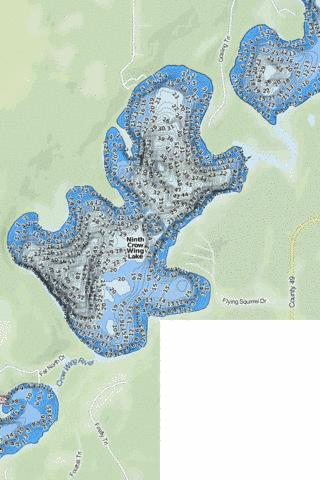 Ninth Crow Wing Fishing Map - i-Boating App
