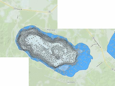 Benedict Fishing Map - i-Boating App
