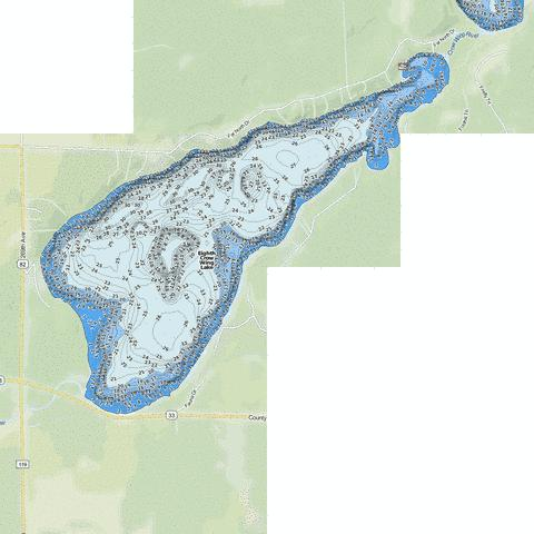 Eighth Crow Wing Fishing Map - i-Boating App