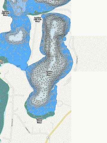 Spider (East Bay) Fishing Map - i-Boating App