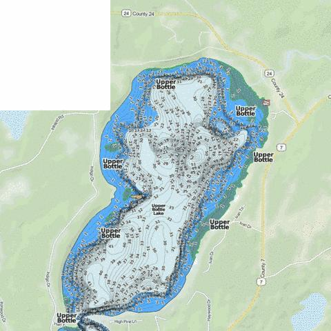 Upper Bottle Fishing Map - i-Boating App