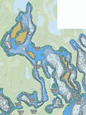 Mantrap (Middle Basin Fishing Map - i-Boating App