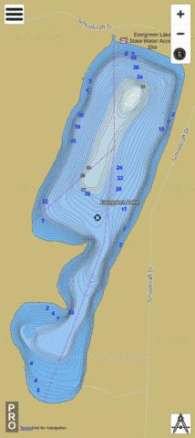 Evergreen Fishing Map - i-Boating App