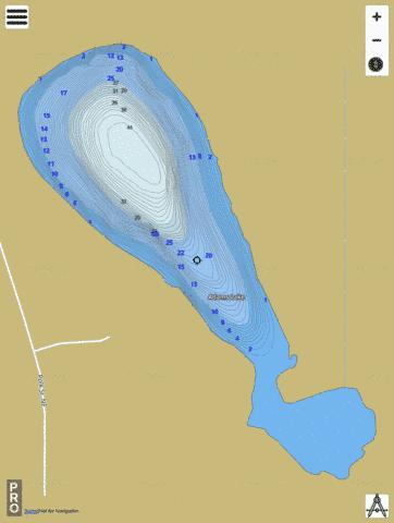 Adams Fishing Map - i-Boating App