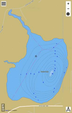 Baxter Fishing Map - i-Boating App