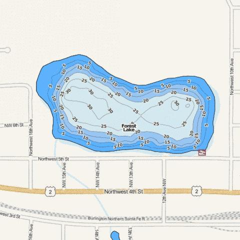 Forest Fishing Map - i-Boating App