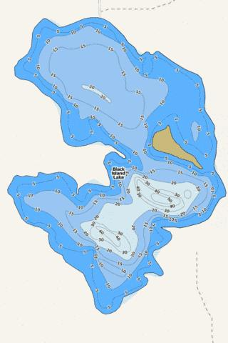 Black Island Fishing Map - i-Boating App