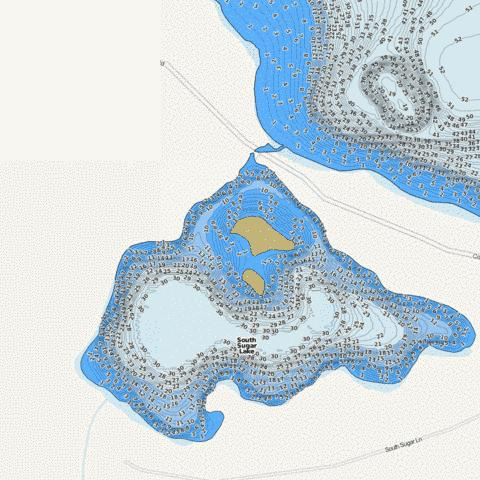 South Sugar Fishing Map - i-Boating App