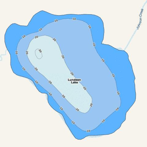 Lundeen Fishing Map - i-Boating App