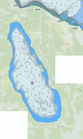 Little Jessie Fishing Map - i-Boating App