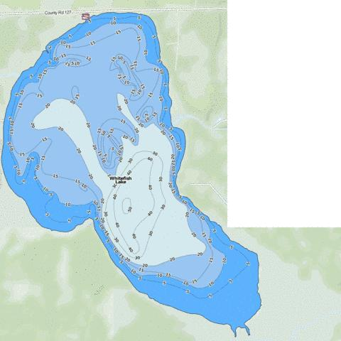 Whitefish Fishing Map - i-Boating App