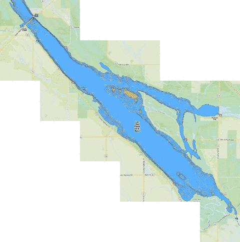 Lac Qui Parle (S.E. Bay) (Fishing Map : US_MN_37004601) | Nautical ...