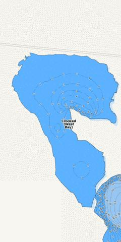 Crooked (West Bay) Fishing Map - i-Boating App