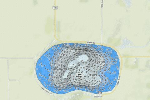 Volney Fishing Map - i-Boating App