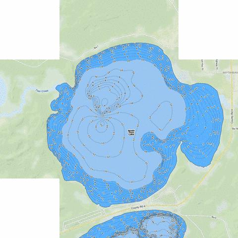 North Twin Fishing Map - i-Boating App
