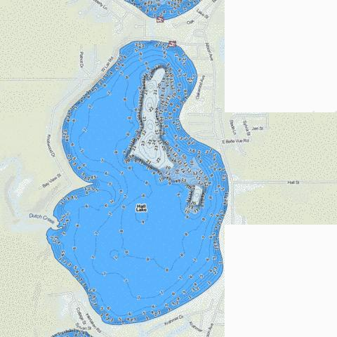 Hall Fishing Map - i-Boating App