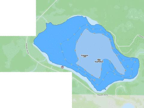 Shakopee Fishing Map - i-Boating App