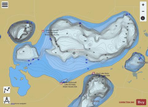 Little McDonald Fishing Map USMN Nautical Charts App - Map ever mcdonalds in the us