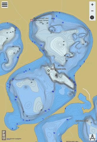 Big McDonald Fishing Map - i-Boating App
