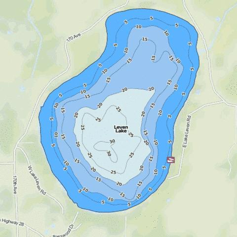 Leven Fishing Map - i-Boating App