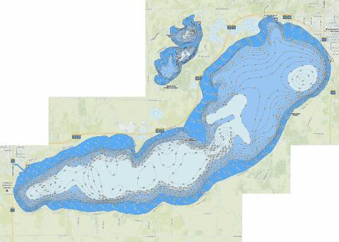 Minnewaska Fishing Map - i-Boating App