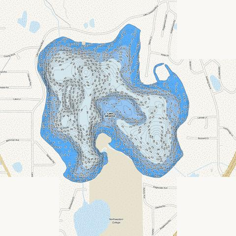 Johanna Fishing Map - i-Boating App
