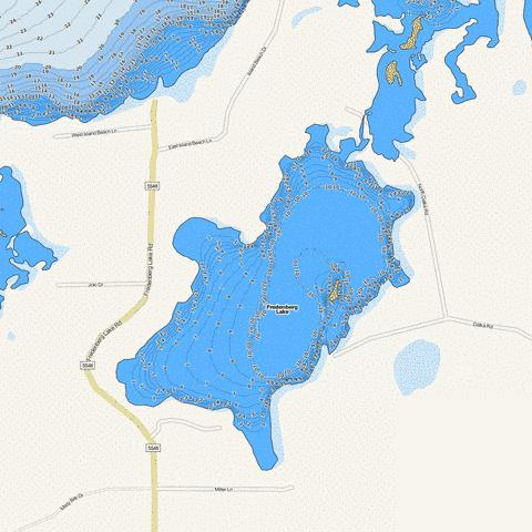Flowage Fishing Map - i-Boating App