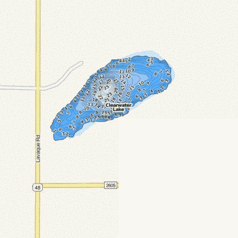 Clearwater Fishing Map - i-Boating App