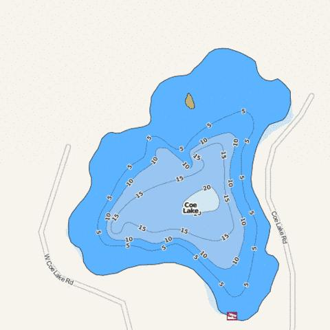 Coe Fishing Map - i-Boating App