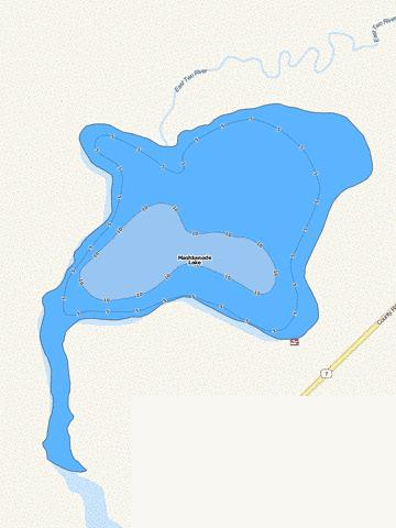 Mashkenode Fishing Map - i-Boating App