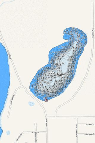 Ochotto Fishing Map - i-Boating App