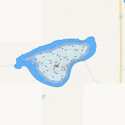 Koop Fishing Map - i-Boating App