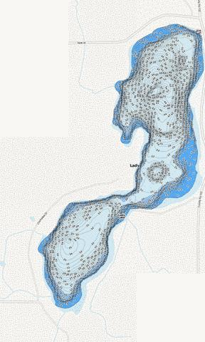 Lady Fishing Map - i-Boating App