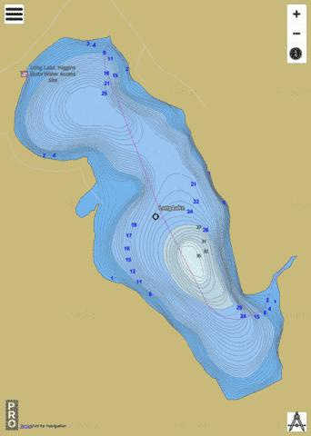 Long (Main Basin) Fishing Map - i-Boating App