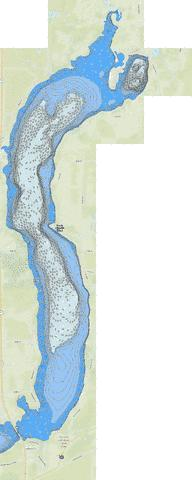 Sauk (North Bay) Fishing Map - i-Boating App