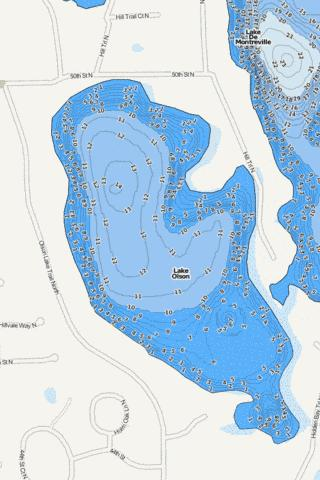 Olson Fishing Map - i-Boating App