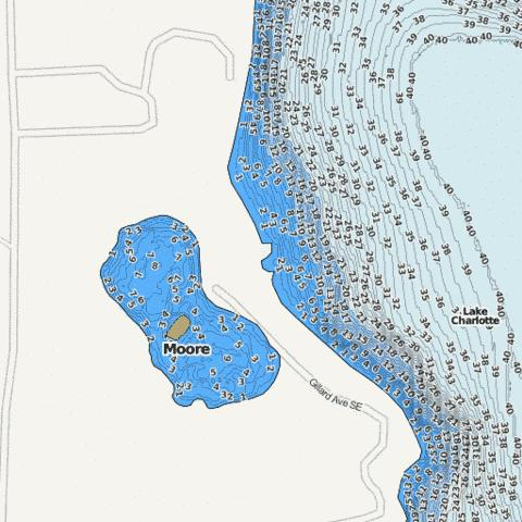 Moore Fishing Map - i-Boating App