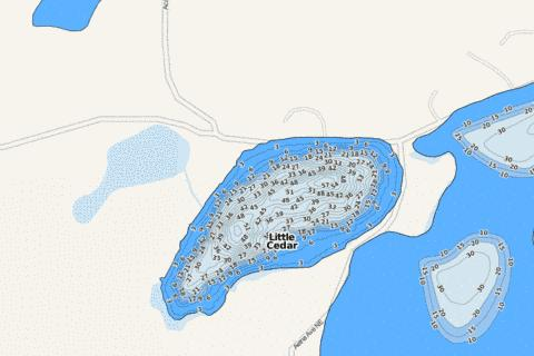 Little Cedar Fishing Map - i-Boating App