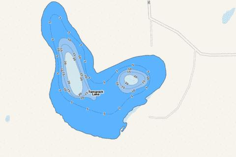 Tamarack Fishing Map - i-Boating App