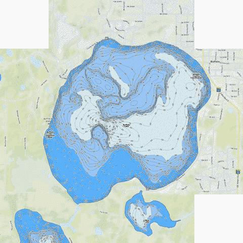 Buffalo Fishing Map - i-Boating App
