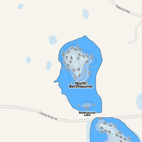 North Berthiaume Fishing Map - i-Boating App