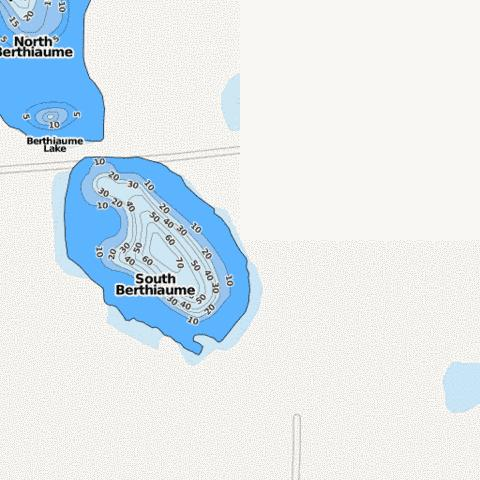 South Berthiaume Fishing Map - i-Boating App